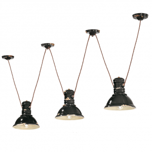 Lampa suspendata Industrial 1692FL culoare rosu, iluminat cafenea, iluminat bar, iluminat bistro, corp iluminat