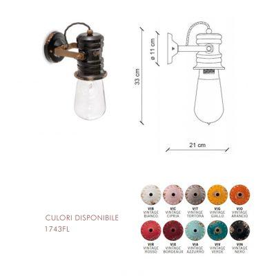 Lampă aplica Urban 1743FL dimensiune si culori disponibile