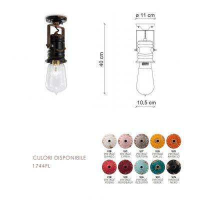 Lampă plafon1744FL dimensiune si culori disponibile