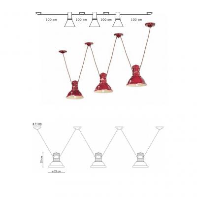Lampa suspendata Industrial 1692FL dimensiuni, corp iluminat, iluminat interior, iluminat bar, iluminat ceainarie