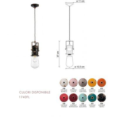 Lampă suspendată Urban 1740FL dimensiune si culori disponibile