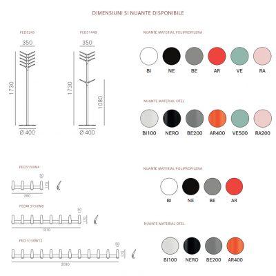 Cuier pentru haine Flag. Culori si dimensiuni disponibile cuier pentru haine flag