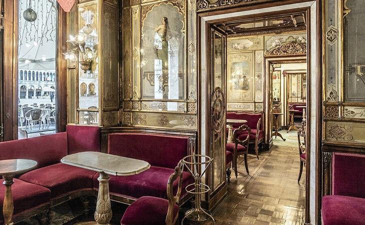 Caffè Florian - Un loc de legenda. Cea mai veche cafenea functionala din lume. Cafenea Venetia.