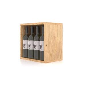 Cutie expozor sticle vin realizata din lemn. Suport sticle de vin. Raft sticle de vin.