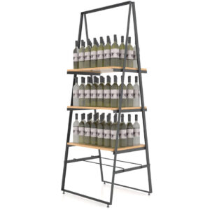Raft expozor sticle A3. Suport sticle de vin. Raft expunere sticle. Mobilier horeca.