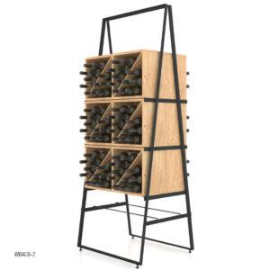Raft expozor sticle AC6-2. Mobilier expunere sticle. Rafturi cafenea, raft bistro. Suport sticle de vin. Stativ sticle de vin.