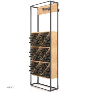 Raft expozor sticle C6-2. Suport sticle de vin. Moilier horeca. Stativ sticle de vin. Idei suport sticle de vin.