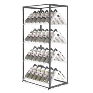 Raft expozor sticle P4 dublu. Suport sticle de vin. Mobilier horeca.