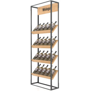 Raft expozor sticle P4 lemn. Suport sticle de vin cafenea, bar,bistro,pub.