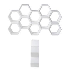 Raft modular hexagonal alb