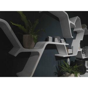 Raft perete Sinapsi. Raft decorativ interior. mobilier horeca.