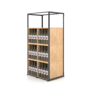 Suport sticle de vin SV6. Suport sticle. Raft sticle de vin. Mobilier vinoteca, crama.
