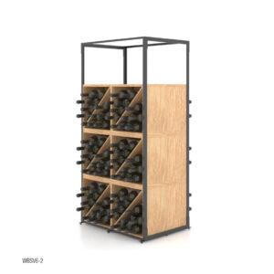 Suport sticle de vin SV6-2. Raft sticle. Raft prezentare sticle.Mobilier horeca. Stativ sticle de vin.