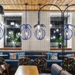Design cafenea - Blue Cup. Design interior cafenea. Mobilier interior cafenea.