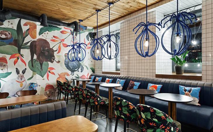 Design cafenea - Blue Cup. Design interior cafenea.