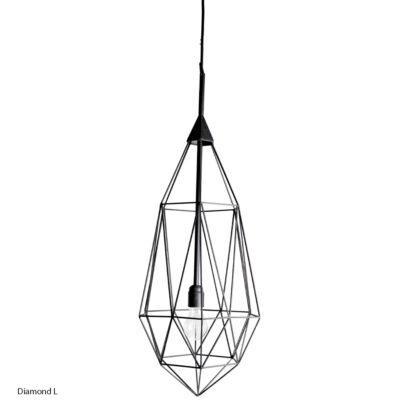 Lampa suspendata Diamond. Iluminat interior industrial