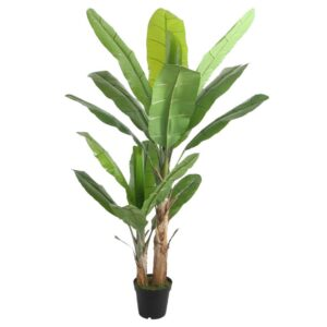 Arbore bananier artificial decorativ. Plante artificiale decorative cafenea. Plante artificiale restaurant.