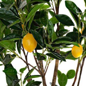 Arbore lămâi artificial decorativ cu fructe. Arbori artificiali decorativi ceainarie. Arbori artificiali crama.