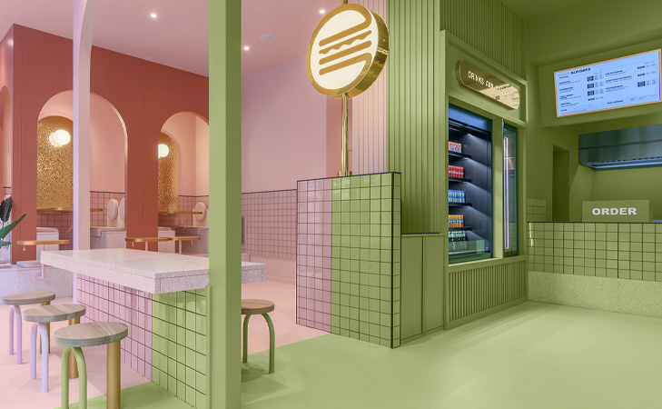 Amenajari interioare restaurante Fast Food. Bun Burgers Italia.