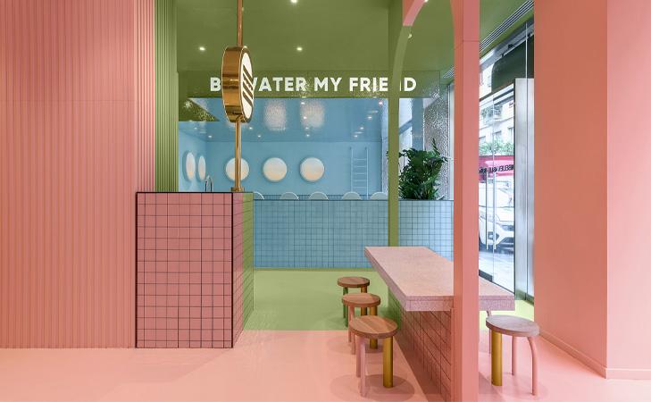 Design restaurant Bun Burgers. Idei amenajare interior fast food.