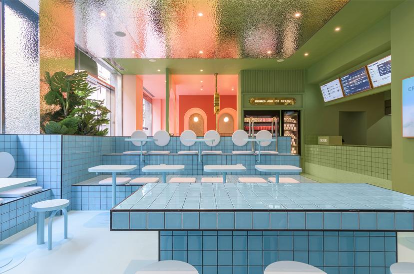Design restaurant Bun Burgers. Amenajare interior restaurant. Design Fast Food. Idei amenajare restaurant