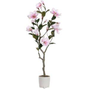 Plantă artificială decorativă Magnolie. Plante artificiale amenajari interioare.