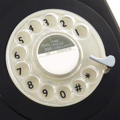 Replica decorativa telefon R746 culoare neagra. Decoratiuni interioare spatii comerciale. Decoratiuni bistro. Decoratiuni ceainarie.