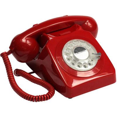Replica decorativa telefon R746 culoarearosie.Obiecte decorative interior. Amenajari spatii HoReCa