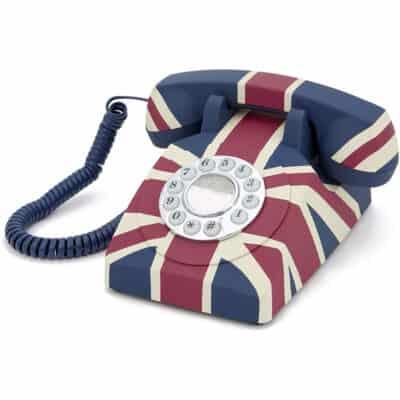 Replică decorativă telefon Union Jack