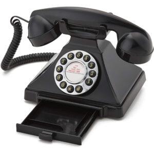 Replică decorativă telefon vintage Carrington. Obiecte decorative interior in stil retro