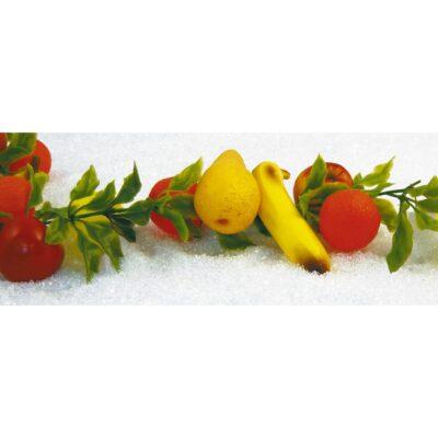 Ghirlanda fructe artificiale 200 cm. Fructe artificiale portocale, lamai, banane, pere