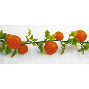 Ghirlanda fructe artificiale 200 cm. Ghirlanda portocale decorative