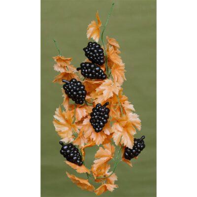 Ghirlanda vita struguri artificiali cu frunze ruginii dimensiune 200 cm.Struguri decorativi artificiali