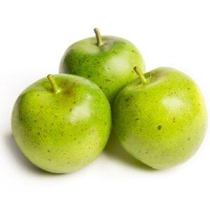 Mere artificiale decorative. Imitatii decorative mere verzi. Fructe artificiale pentru decor. Mere verzi ornamentale