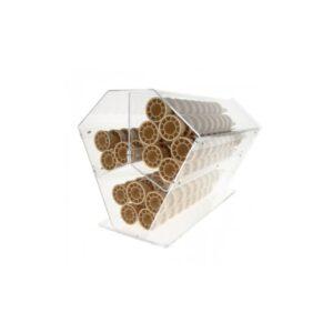 Suport orizontal conuri de inghetata. Suport acrilic conuri de inghetata cu 3 compartimente