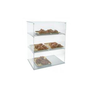 Vitrina display cu 3 rafturi. Vitrina prezentare produse de patiserie, cafea, tutun.